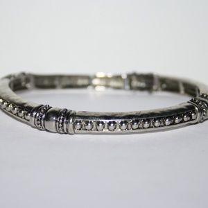 Silver elastic bracelet